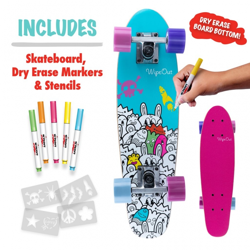iWipeout Monsters Dry Erase Penny Board 2